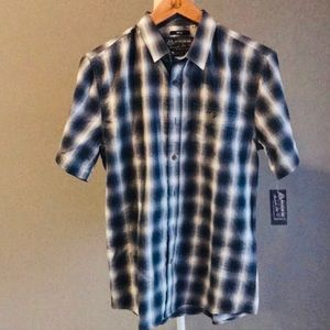 American Rag S NWT Men's Plaid Shirt Riviera Blue